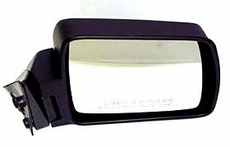 Manual Mirror, Right  Jeep Cherokee (1984-1996); Right side Black w/ Foldaway; Non-Export.