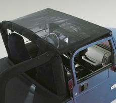 Mesh Header Roll Bar Top, 97-06 Jeep Wrangler by Rugged Ridge