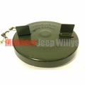 Metal Gas Cap, Olive Drab, fits 1950-1966 Willys Jeep M38 and M38A1 Models