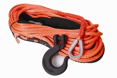"""Mile Marker Winch Synthetic Rope, 3/8"""" X 100' Assembly (16,200 lbs. Min Break Force)"""