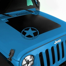 Military Star Hood Decal for 2007-2017 Jeep Wrangler JK