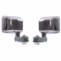 Door Mirrors with LED Turn Signals, Chrome, 07-18 Jeep Wrangler by Rugged Ridge