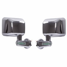 Door Mirrors with LED Turn Signals, Chrome, 07-17 Jeep Wrangler by Rugged Ridge