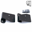 Mirror Relocation Brackets, Black, 03-06 Jeep Wrangler by Rugged Ridge