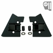 Mirror Relocation Brackets, Black, 97-02 Jeep Wrangler by Rugged Ridge