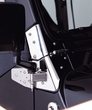 Mirror Relocation Brackets, Stainless Steel, 97-06 Jeep Wrangler by Rugged Ridge