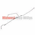 Steel Fuel Line Kit, Fits 1945 Willys Jeep MB and Ford GPW