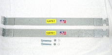 MTS Fuel Tank Straps For 1987-1995 Jeep® Wrangler YJ OEM style 20 gallon plastic upper gas tank straps (pair) with bolts.