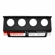 MTS Gauge Panel, 1987-1995 Jeep Wrangler YJ, BLACK gauge cluster panel without gauges
