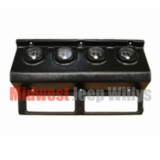 MTS Gauge Panel with Gauges, 1993-1995 Jeep Wrangler YJ, BLACK gauge cluster panel
