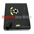 MTS Plastic Gas Tank for Right Hand Mount 1965-1971 Jeep CJ5 and CJ6 with V6 engine with lock ring style sending unit