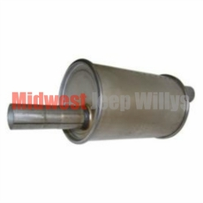 Replacement Muffler fits 1945-1971 CJ2A, CJ3A, CJ3B, CJ5, CJ6 with 4 Cylinder Engine