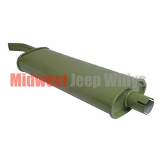 Reproduction Oval Style Muffler for 1941-1945 Willys Jeep MB and Ford GPW