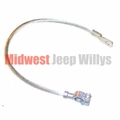 Negative Battery Cable, Round, Battery to Ground, 1941-45 MB, GPW