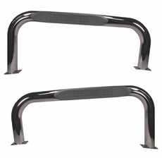 Nerf Bars, Stainless Steel, 87-06 Jeep Wrangler by Rugged Ridge