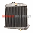 "New 3 Row 17"" Radiator for 1965-1968 Jeep CJ5, CJ6 with 225 Dauntless V6 Cylinder Engines"