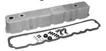 Non-Painted Aluminum Valve Cover Kit - For 1981-1986 CJs w/ 4.2L engine. Replaces plastic OEM type valve cover