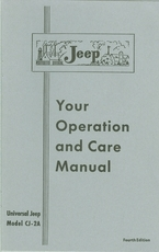 Owner's Manual for Universal Jeep Model CJ2A