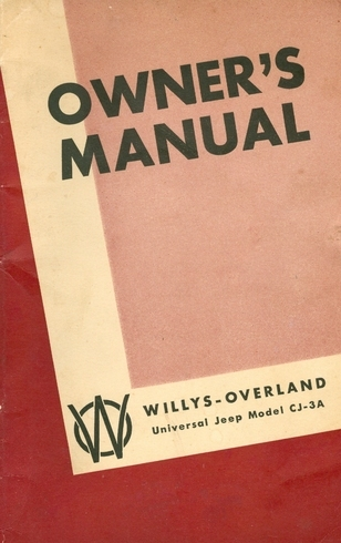 owner s manual for universal jeep model cj3a rh midwestjeepwillys com universal jeep service manual pdf Willys Jeep