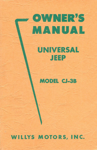 owner s manual for universal jeep model cj3b rh midwestjeepwillys com 1963 Willys CJ3B 1963 Willys CJ3B