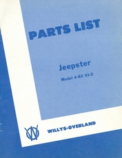 Parts List Jeepster Model 463-VJ-2