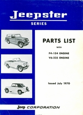 Parts List Jeepster with F4-134, V6-225 Eengines