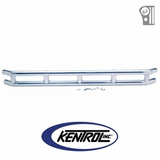"""Polished Stainless Steel 3"""" Double Tube Front Bumper fits 1976-1986 Jeep CJ Models by Kentrol"""
