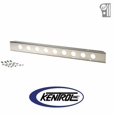 "Polished Stainless Steel 42"" Front Bumper with holes fits 1945-1986 Jeep CJ Models by Kentrol"
