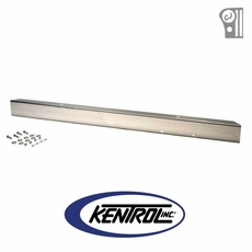 """Polished Stainless Steel 54"""" Front Bumper w/out holes fits 1945-1986 Jeep CJ Models by Kentrol"""