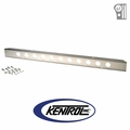 """Polished Stainless Steel 54"""" Front Bumper with holes fits 1945-1986 Jeep CJ Models by Kentrol"""