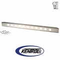 """Polished Stainless Steel 54"""" Front Bumper with no License Plate Holes fits 1945-1986 Jeep CJ Models by Kentrol"""