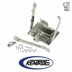 Polished Stainless Steel Battery Tray w/support arm fits 1976-1986 Jeep CJ Models by Kentrol