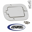 Polished Stainless Steel Billet Style Gas Hatch fits 1977-1995 Jeep CJ & YJ Wrangler by Kentrol