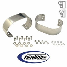 Polished Stainless Steel Bumperette Set fits 1976-1995 Jeep CJ & YJ Wrangler by Kentrol