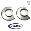 Polished Stainless Steel Disc Brake Dust Cover Set fits 1979-1986 Jeep CJ Models by Kentrol
