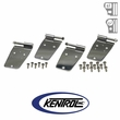 Polished Stainless Steel Door Hinge Set, 4 pieces, fits 1976-1993 Jeep CJ & YJ Wrangler by Kentrol