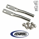 Polished Stainless Steel Door Strap Pin Set fits 1976-1995 Jeep CJ & YJ Wrangler by Kentrol