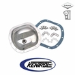 Polished Stainless Steel Front Differential Cover fits 1945-1986 Jeep CJ Models by Kentrol