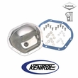 Polished Stainless Steel Front & Rear Differential Cover Model 44 fits 1945-1975 Jeep CJ, 1986 CJ7 by Kentrol
