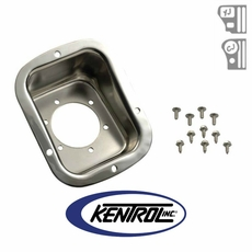 Polished Stainless Steel Gas Filler Neck fits 1978-1995 Jeep CJ & YJ Wrangler by Kentrol