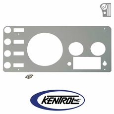 Polished Stainless Steel Gauge Cover fits 1977-1986 Jeep CJ Models by Kentrol