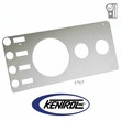 ( 30521 ) Polished Stainless Steel Gauge Cover without Radio Opening fits 1976-1986 Jeep CJ Models by Kentrol