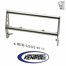 Polished Stainless Steel Grill Guard fits 1955-1986 Jeep CJ Models by Kentrol