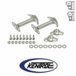 Polished Stainless Steel Hood Catch Set fits 1955-1995 Jeep CJ & YJ Wrangler by Kentrol