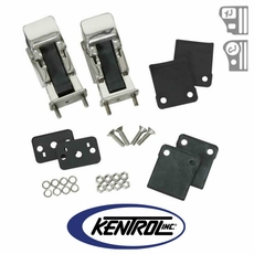 Polished Stainless Steel Hood Catch Set, TJ Style fits 1942-1995 Jeep CJ & YJ Wrangler by Kentrol