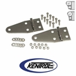 Polished Stainless Steel Hood Hinge Set fits 1955-1995 Jeep CJ & YJ Wrangler by Kentrol