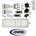 Polished Stainless Steel Hood Kit with TJ Style Hood Catch fits 1978-1995 Jeep CJ & YJ Wrangler by Kentrol