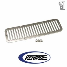 Polished Stainless Steel Hood Vent fits 1955-1977 Jeep CJ5 by Kentrol