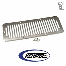 Polished Stainless Steel Hood Vent fits 1976-1986 Jeep CJ Models by Kentrol
