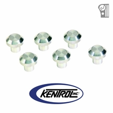 Polished Stainless Steel Interior Knob Set, 6 pieces, fits 1976-1986 Jeep CJ Models by Kentrol